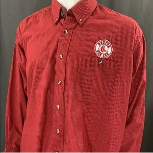 Boston Red Sox Button Down Front Long Sleeve Shirt